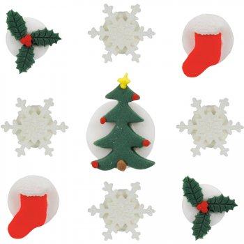 9 Décors en Sucre Noël