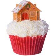 6 Décors Alimentaires à Cupcakes Maisonnettes