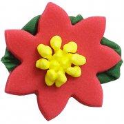 5 Fleurs Étoiles de Noël en Sucre
