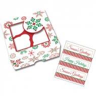 3 Boites à Cupcakes et Biscuits Féérie de Noël