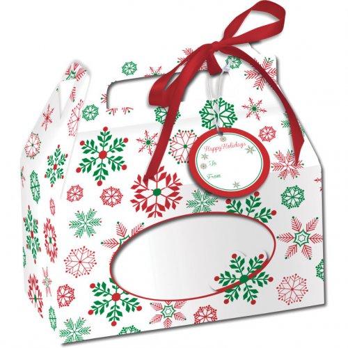4 Boites à Cupcakes Féérie de Noël