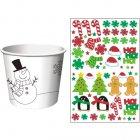 6 Pots à Décorer Père Noël et ses Amis