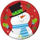 8 Petites Assiettes Père Noël et ses Amis