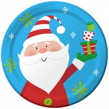 8 Assiettes  Père Noël et ses Amis