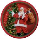8 Assiettes Père Noël et sa Hotte
