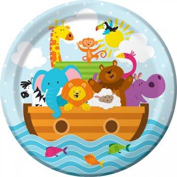 8 Assiettes Les animaux de Noé