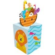 8 Petites boîtes à dragées Les animaux de Noé