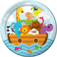 Contient : 1 x 1 assiette Les animaux de Noé