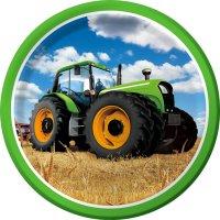 Contient : 1 x 8 Assiettes Big Tracteur