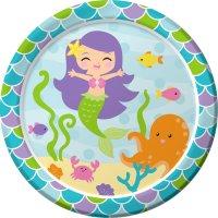Contient : 1 x 8 assiettes Sirène