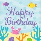 16 serviettes Happy Birthday Sirène