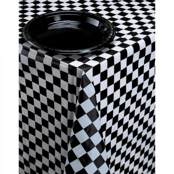 nappe damier noir et blanc racing pour l 39 anniversaire de. Black Bedroom Furniture Sets. Home Design Ideas