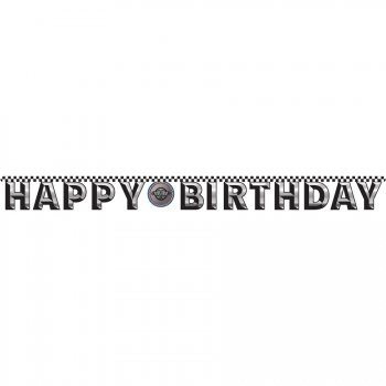 Guirlande Happy Birthday Speed Racing