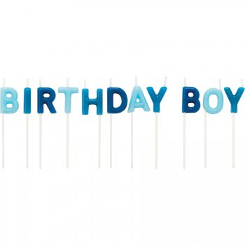 11 Mini Bougies Lettres Happy Birthday Boy