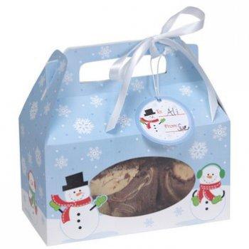 4 Boîtes à Cookies Bonhomme de Neige