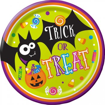 8 Assiettes Halloween Fun