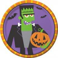 8 Petites Assiettes Creepy Halloween