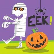 16 Petites Serviettes Creepy Halloween