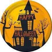 8 Petites Assiettes Halloween Hanté