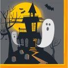 16 Serviettes Halloween Hanté