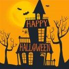 16 Petites Serviettes Halloween Hant�
