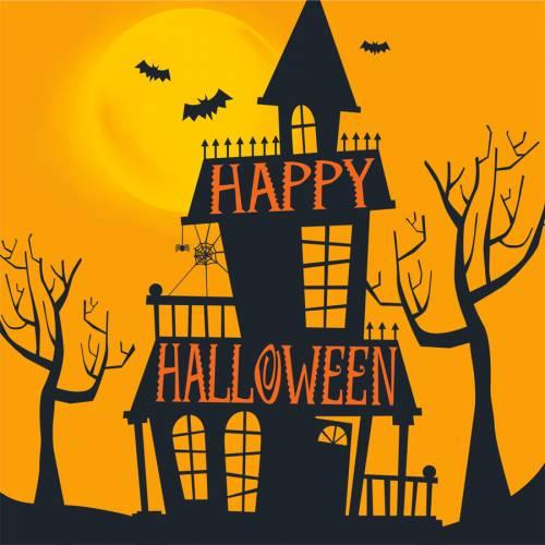 16 Petites Serviettes Halloween Hanté