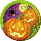 8 Petites Assiettes Halloween Pumpkin