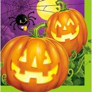16 Serviettes Halloween Pumpkin