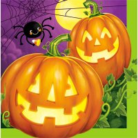 Contient : 1 x 16 Serviettes Halloween Pumpkin