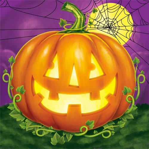 16 Petites Serviettes Halloween Pumpkin