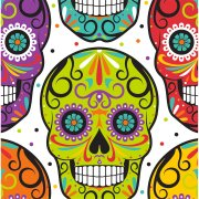 16 Serviettes Calavera Party