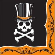 16 Serviettes Squelette �l�gance