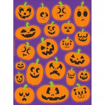 4 Planches de stickers Citrouille