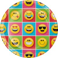 Contient : 1 x 8 Assiettes Emoji Smiley