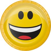 8 Petites Assiettes Emoji Smiley - 3 design