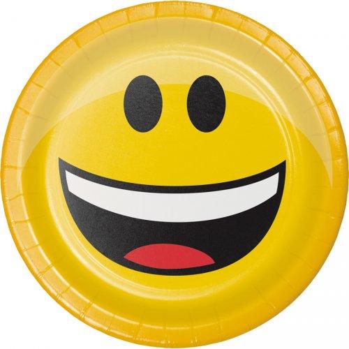 8 Petites Assiettes Emoji Smiley - 3 design