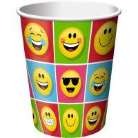 Contient : 1 x 8 Gobelets Emoji Smiley