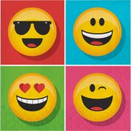 16 Serviettes Emoji Smiley