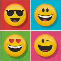 Contient : 1 x 16 Serviettes Emoji Smiley