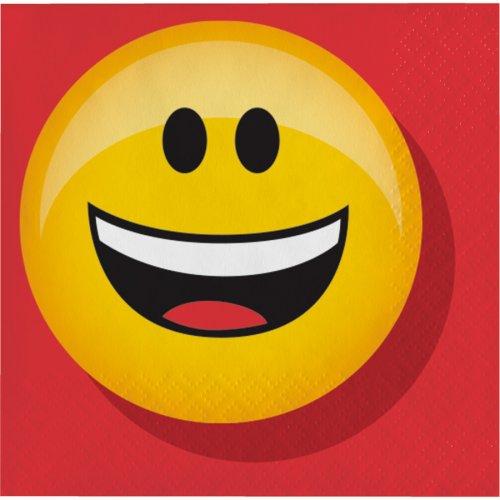 16 Petites Serviettes Emoji Smiley