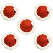 5 D�cors Bonnets de P�re No�l en sucre