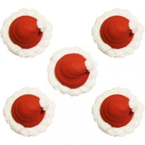 5 Décors Bonnets de Père Noël en sucre