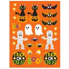 4 Planches de stickers Halloween