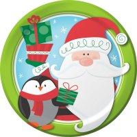 Contient : 1 x 8 Assiettes Copains de Noël