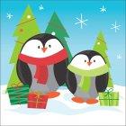 16 Petites Serviettes Copains de Noël