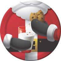 Contient : 1 x 8 Assiettes Père Noël Gourmand