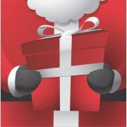 16 Serviettes Père Noël Gourmand