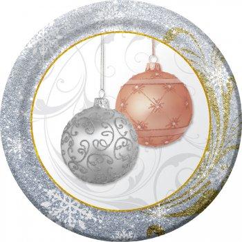 8 Petites Assiettes Noël scintillant