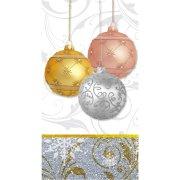 16 Serviettes rectangulaires Noël scintillant