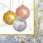 16 Serviettes Noël scintillant